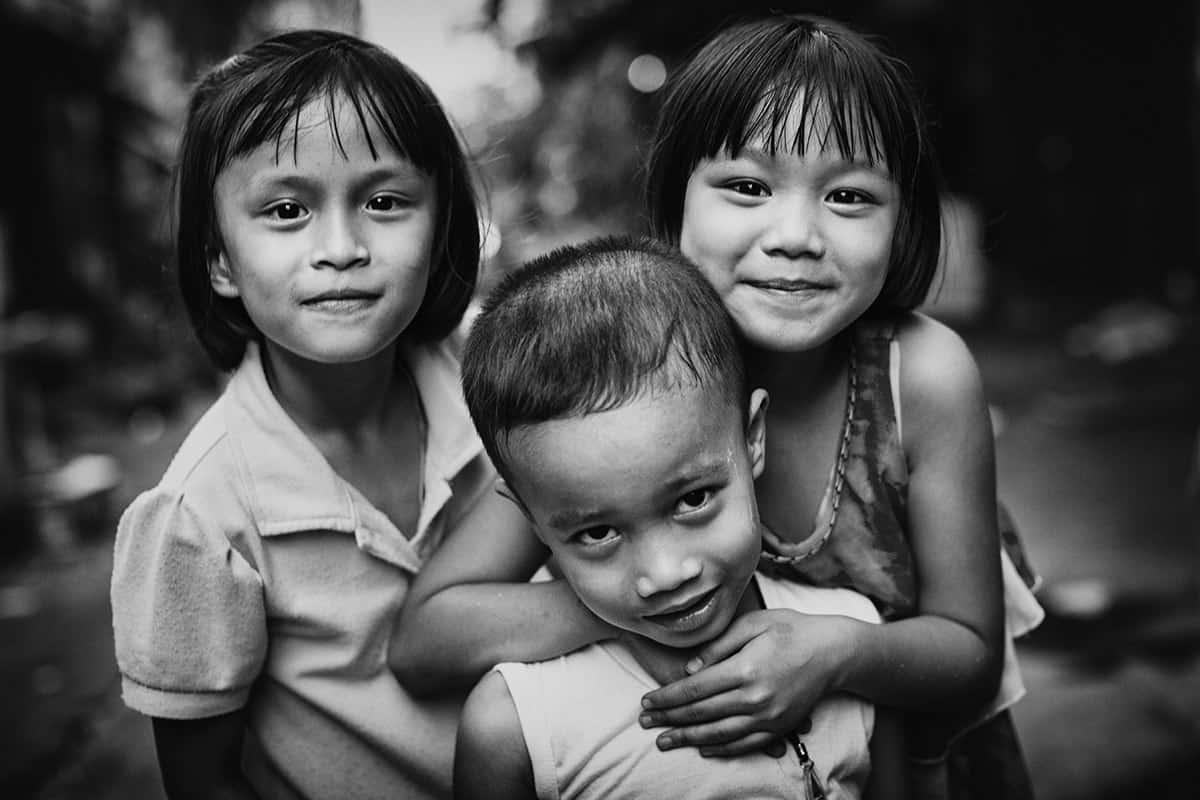 Bangkok zwart-witfoto's reportage